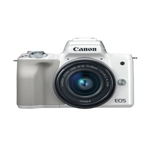 CANON EOS M50 15-45 IS STM LENS KIT 24.1 MP AYNASIZSLR FOTOĞRAF MAKİNESİ (BEYAZ)