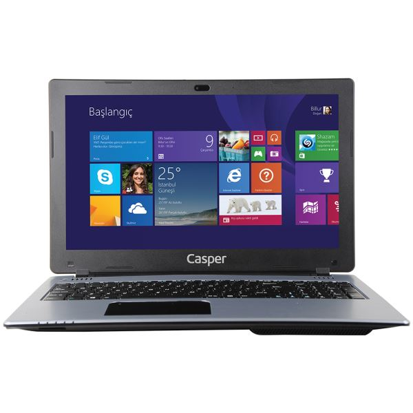 CASPER CN-VGU2820A CELERON N2820 2.13GHZ-4GB-500GB HDD-INT-15.6-W8.1 NOTEBOOK