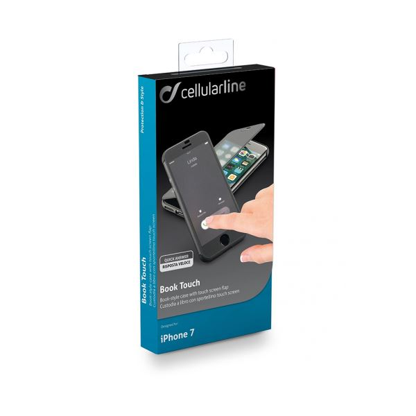 CELLULARLINE IPHONE 7 DOKUNMATİK BOOK KILIF SİYAH