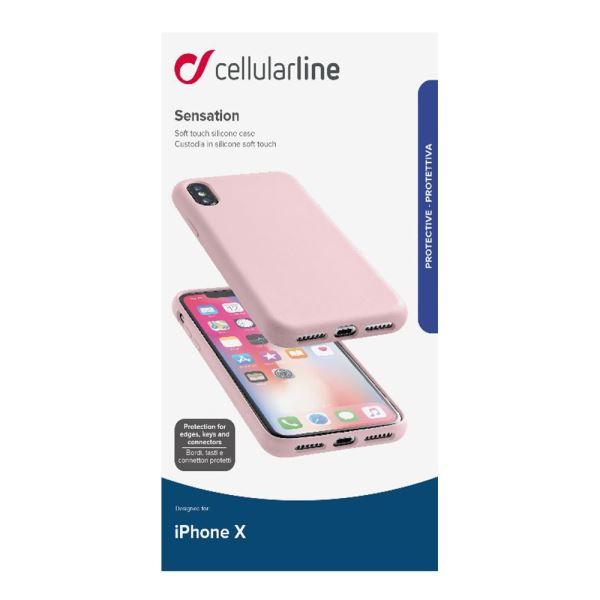 CELLULARLINE İPHONE X SENSATİON SOFT KILIF - PEMPE