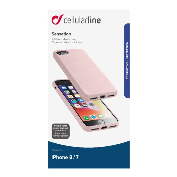 CELLULARLINE İPHONE 7/8 SENSATİON SOFT KILIF - PEMPE