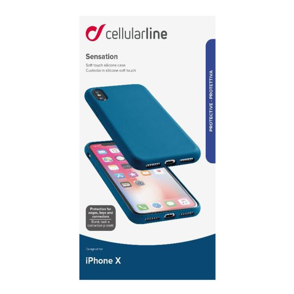 CELLULARLINE İPHONE X SENSATİON SOFT KILIF - MAVİ
