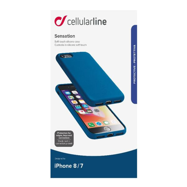 CELLULARLINE İPHONE 7/8 SENSATİON SOFT KILIF - MAVİ