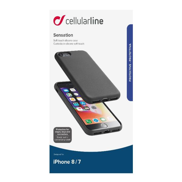 CELLULARLINE İPHONE 7/8 SENSATİON SOFT KILIF - SİYAH