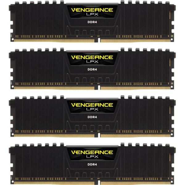 CORSAIR 16GB (4x4GB) Vengeance DDR4 2666MHz CL15 Ouad Kit Ram