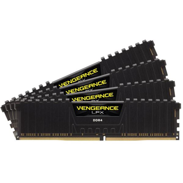 CORSAIR 32GB (4x8GB) Vengeance DDR4 2400MHz CL16 Ouad Kit Ram