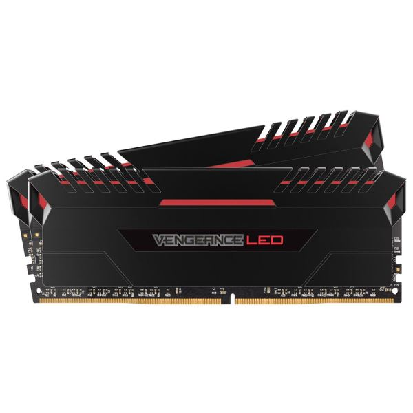 CORSAIR 16GB (2x8GB) VENGEANCE LED Kırmızı DDR4 3200Mhz CL16 Dual Kit Ram