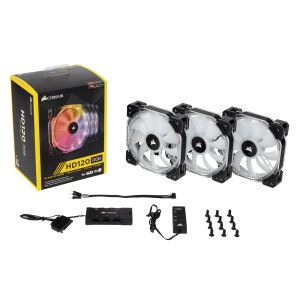 CORSAIR HD SERİSİ HD120 3x120MM SESSİZ RGB LED FAN + FAN KONTROL ÜNİTESİ