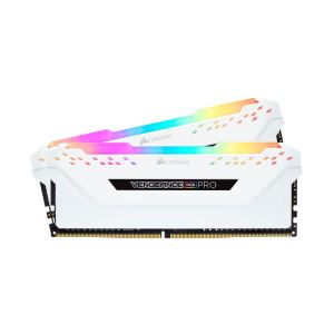 CORSAIR 16GB (2x8GB) Vengeance Beyaz DDR4 3200MHz CL16 RGB Pro Led Dual Kit Ram
