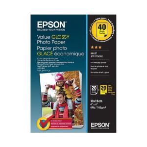 EPSON VALUE GLOSSY PHOTO PAPER 10X15CM 2 X 20 SHEET (BOGOF)