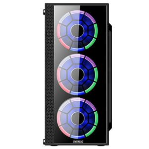 EVEREST CRYSTAL 4x120mm RAINBOW FAN 600W USB3.0 MidT ATX GAMING KASA