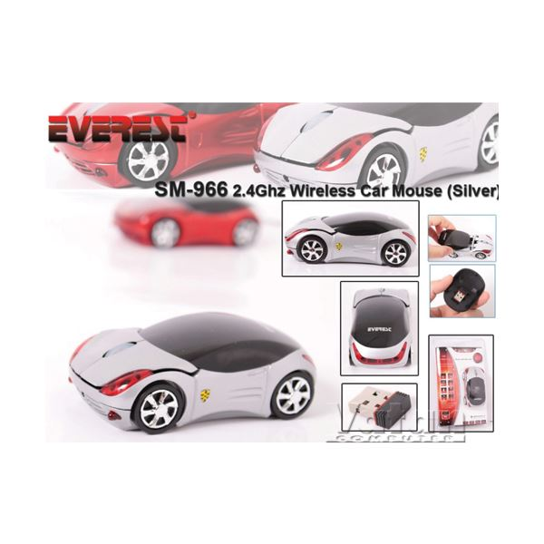 EVEREST SM-966 SILVER WIRELESS CAR MOUSE