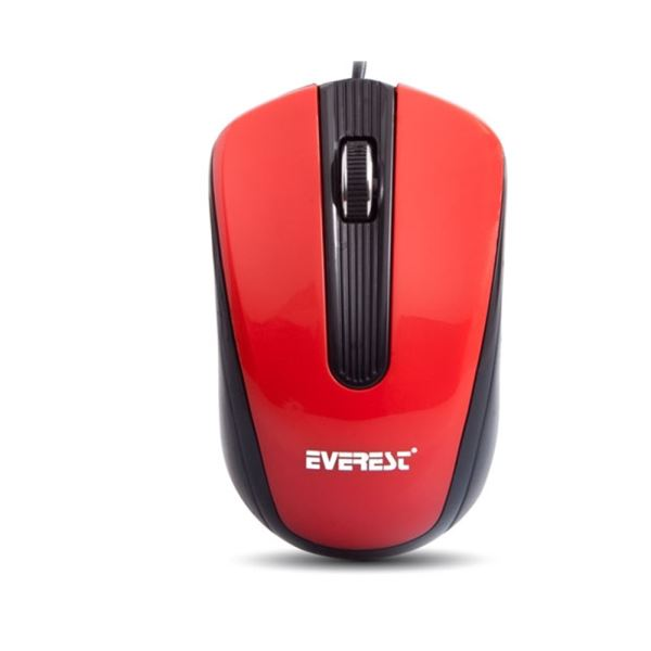 EVEREST SM-249 USB OPTİK MOUSE KIRMIZI