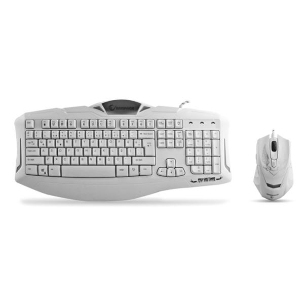 EVEREST RAMPAGE KM-R5 Ledli Klavye Mouse Set Beyaz