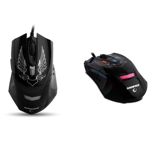 EVEREST RAMPAGE KM-R5 Ledli Klavye Mouse Set Siyah