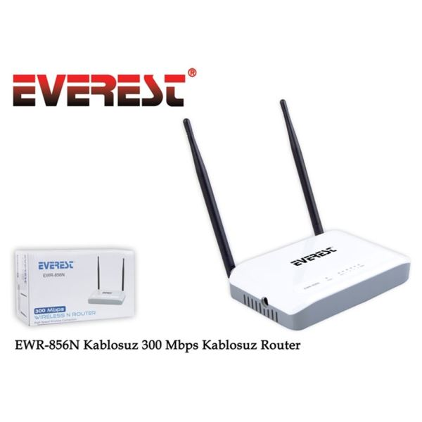 EVEREST EWR-856N 300MBPS KABLOSUZ-N 4 PORT ROUTER