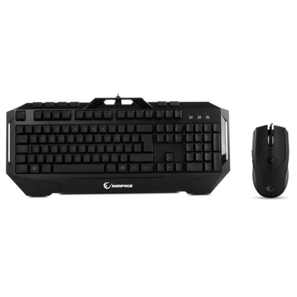 EVEREST RAMPAGE KM-R7 Ledli Klavye Mouse Set