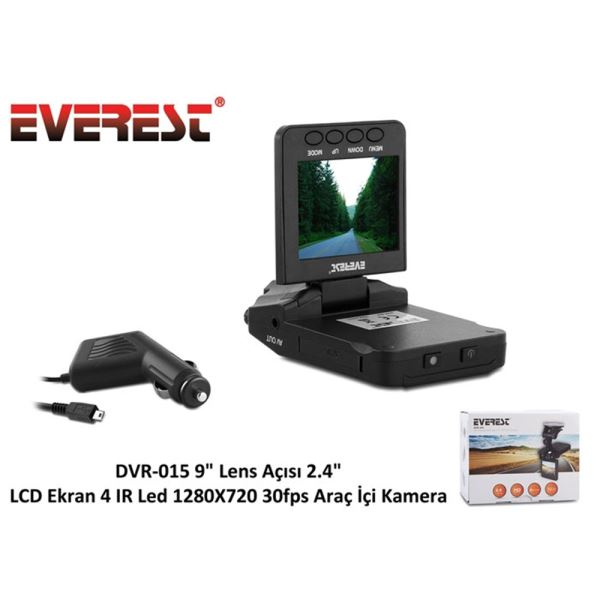 EVEREST DVR-015 30 FPS ARAÇ İÇİ KAMERA