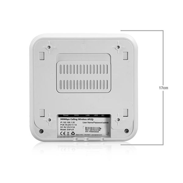 EVEREST EAP-LR 300MBPS KABLOSUZ-N TAVANA MONTAJLANABİLİR ACCESS POINT
