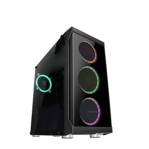 EVEREST RAMPAGE SPECTRUM RGB FAN USB 3.0 MidT ATX SİYAH CAM KASA