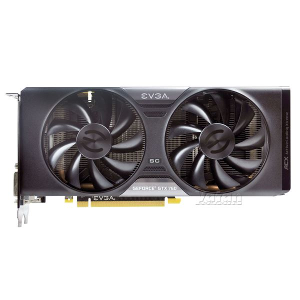 Evga GTX760 SuperClock ACX Dual Bios GDDR5 2GB 256Bit Nvidia GeForce DX11.1