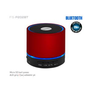FRISBY FS-P202BT MINI BLUETOOTH SPEAKER - KIRMIZI