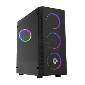 FRISBY GC-9255G GAMEMAX HAWK 500W USB 3.0 MidT ATX 4x120mm RGB FANLI KASA