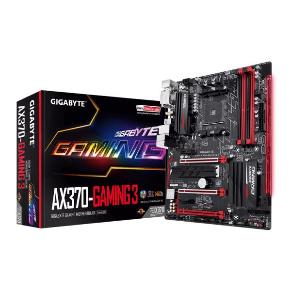GIGABYTE GA-AX370 GAMING 3 AMD Socket AM4 Ryzen DDR4 3200(O.C.)MHz Anakart