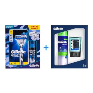 GILLETTE  81674681 200MLJEL+75ML B + GILLETTE 81697086 MACH3 T.MAK+YED+75 ML JEL