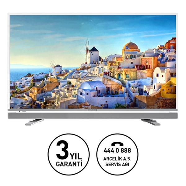 GRUNDIG 49VLE6565 123CM FHD SMART INTERACTIVE 4.0 LED TV,DAHİLİ UYDU ALICI,BEYAZ