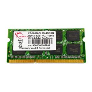 GSKILL 4GB Value DDR3 1333MHz CL9 Tek Modül Notebook Ram