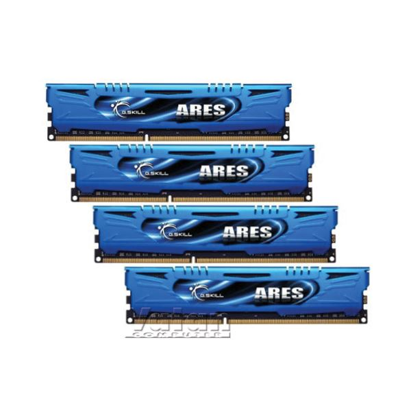 GSKILL 16GB (4x4GB) Ares Blue Low Profile DDR3 1600MHz CL9 Quad Kit Ram