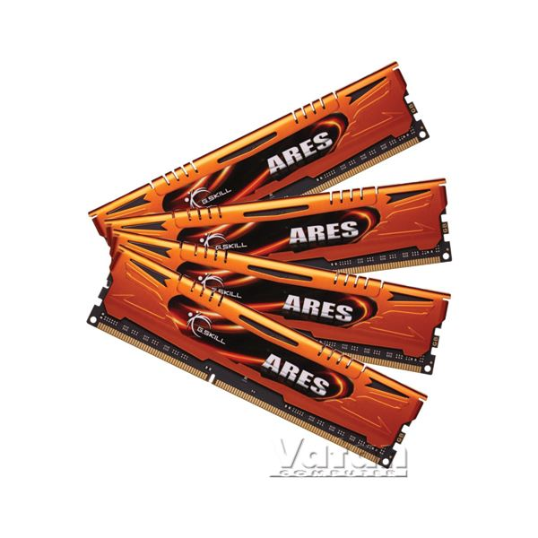 32GB (4x8GB) Ares Orange Low Profile DDR3 1333MHz CL9 Quad Kit Ram