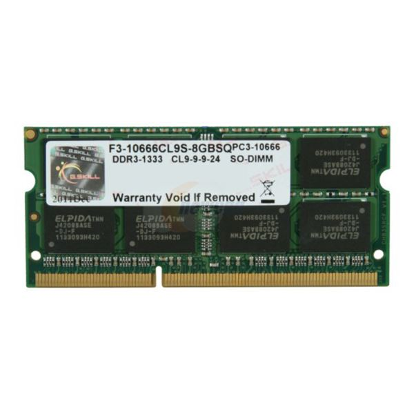 GSKILL 8GB Value DDR3 1333MHz CL9 Notebook Ram
