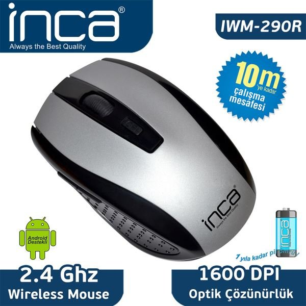 INCA IWM-290R NANO WIRELESS OPTİK MOUSE