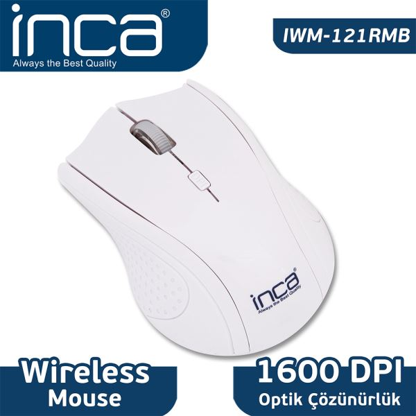 INCA IWM-121RM WIRELESS NANO ALICILI OPTİK MOUSE-BEYAZ