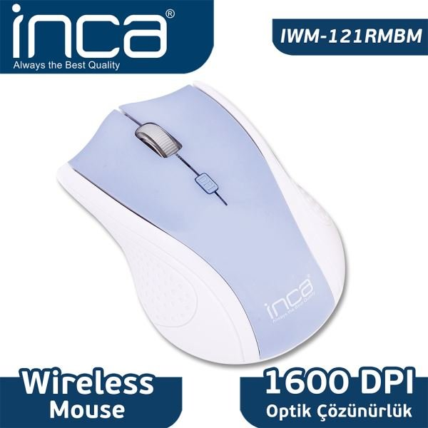 INCA IWM-121RM WIRELESS NANO ALICILI OPTİK MOUSE-BUZ MAVİSİ