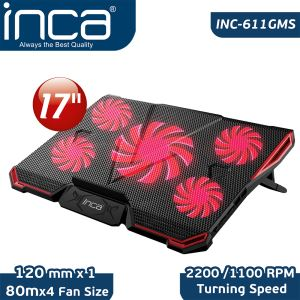 INCA INC-611 GMS ARRAX GAMING NOTEBOOK  SOĞUTUCU 5X FAN , 6 KADEMELİ ,2X USB