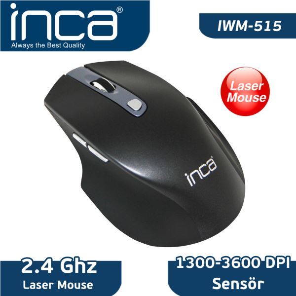 INCA IWM-515  2.4GHz 1300/3600 DPİ NANO LASER WİRELESS MOUSE
