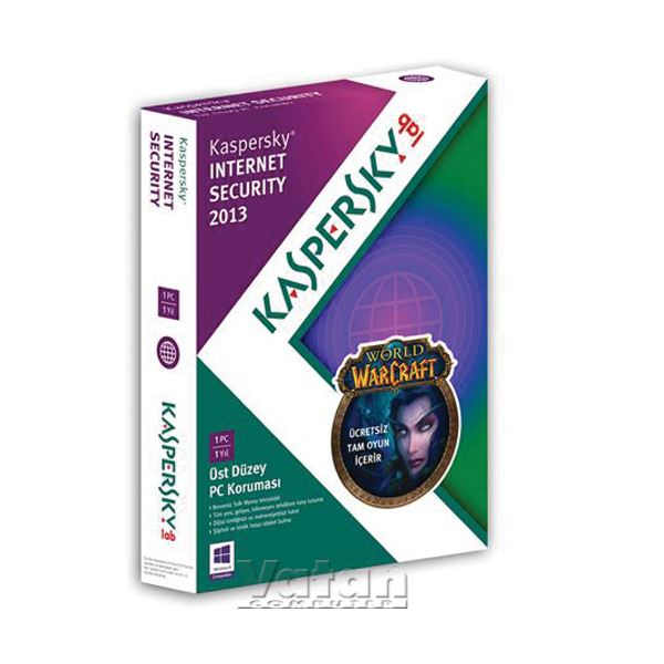 Kaspersky Internet Security 2013 (1 Kullanıcı 1Yıl) (World Of Warcraft Hediyeli)
