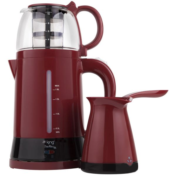 KING K 8288 DUO SET  ÇAY & KAHVE  MAKİNESİ SETİ