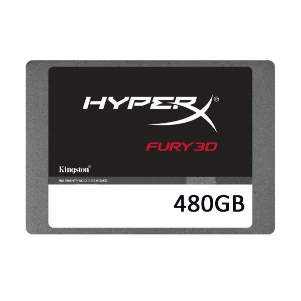 Kingston 480GB HyperX Fury 3D Serisi Sata 3.0 (Okuma 500MB / Yazma 500MB)