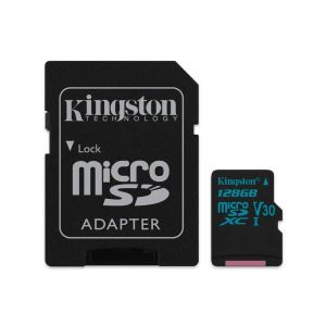 KINGSTON CANVAS GO 128 GB ADAPTÖRLÜ HAFIZA KARTI(90MB/S-45MB/S)