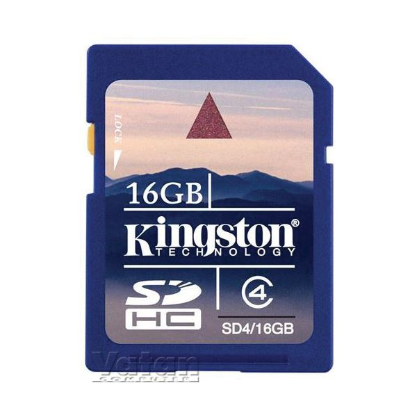 KINGSTON 16 GB SECURE DIGITAL CLASS-4 SDHC HAFIZA KARTI
