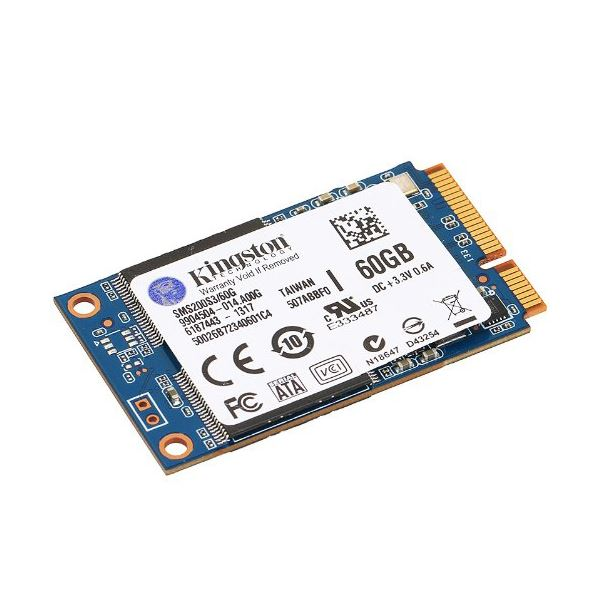 Kingston 60GB mSata SSD (Okuma Hızı 550MB / Yazma Hızı 520MB)