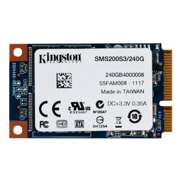 Kingston 240GB mSata SSD (Okuma Hızı 540MB / Yazma Hızı 530MB)