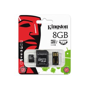 KINGSTON 8GB CLASS10 MOBILITY KIT (MICRO SDHC CLASS10+USB OKUYUCU BUNDLE KIT)