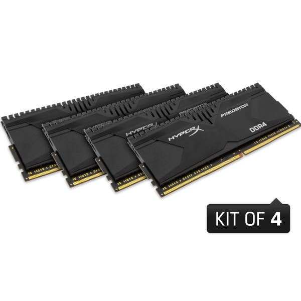 Kingston 32GB (4x8GB) HyperX Predator DDR4 2800MHz CL14 1.35V XMP Ram