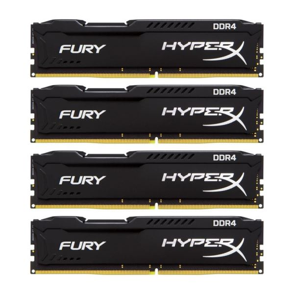 Kingston 32GB (4x8GB) HyperX FURY Black DDR4 2400MHz CL15 1.2V XMP Ram