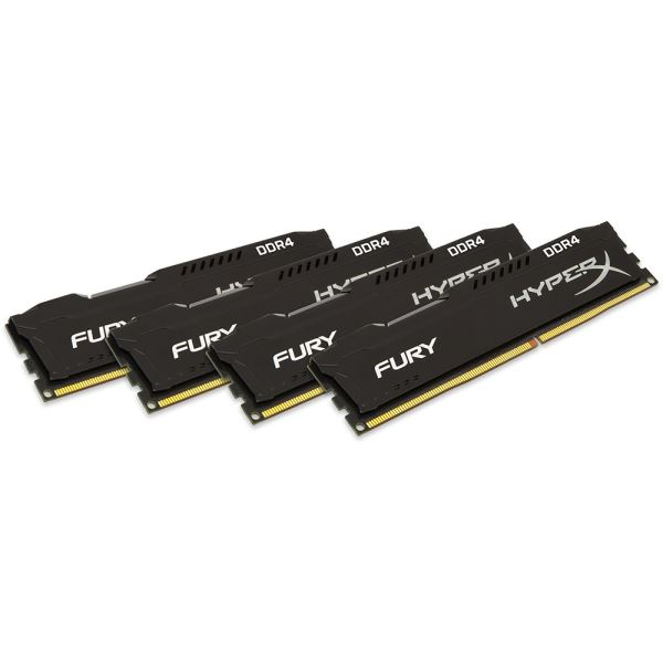 Kingston 32GB (4x8GB) HyperX FURY Black DDR4 2666MHz CL15 1.2V XMP Ram